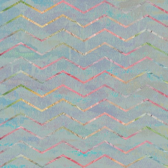 Chevron Rainbows Art Print