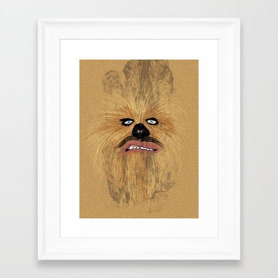 chew-bacca Framed Art Print