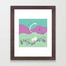 Musical Cat Framed Art Print