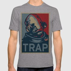 TRAP Mens Fitted Tee Athletic Grey SMALL