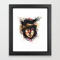 Gleam Diamond Punk King Framed Art Print