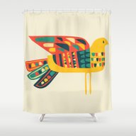 Century Bird Shower Curtain