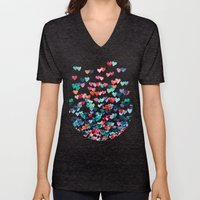Heart Connections - Wate… Unisex V-Neck