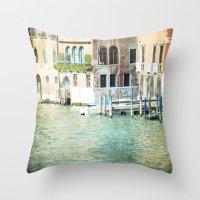La Canal - Venice Throw Pillow