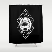 Space Traveller Shower Curtain