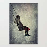 The swing (I have a bird inside me) Canvas Print
