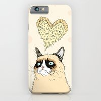 iPhone & iPod Case featuring Grumpy Pizza Love by Michael Todd Berland