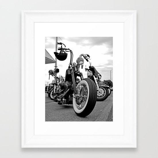 Roadside chopper Framed Art Print