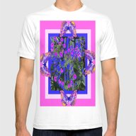 T-shirt featuring   Fuchsia-White Butterfl… by SharlesArt