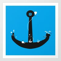 Adventure Is My Anchor Art Print