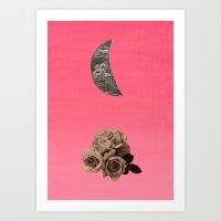 Crescent Rose Art Print