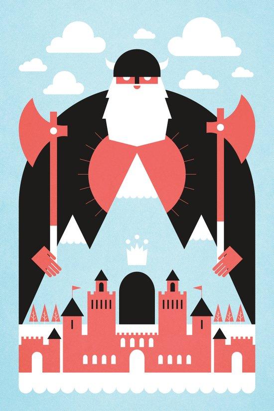 King of the Mountain Art Print