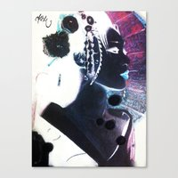 Invert Geisha Canvas Print