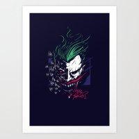 joker Art Prints featuring Joker by Steven Toang