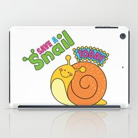 Save a Snail Today! iPad Case