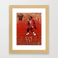 Michael Jordan Framed Art Print