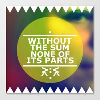 Sum And Parts Canvas Print
