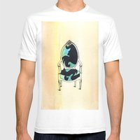 Curieux Mens Fitted Tee White SMALL