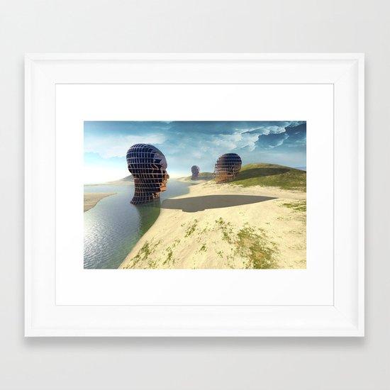mesh Island  Framed Art Print