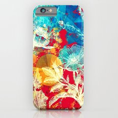 RED FLORAL ABSTRACT Slim Case iPhone 6s
