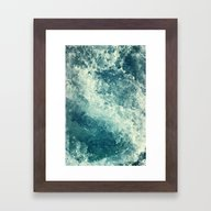 Framed Art Print featuring Water I by Dr. Lukas Brezak