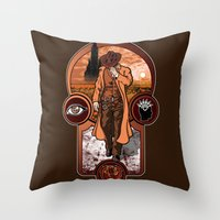 The Gunslinger's Creed. Throw Pillow