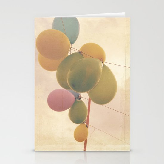 The Vintage Balloons Stationery Card
