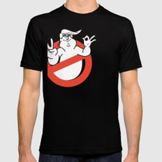 Trump busters; He ain't afraid no ghost Black SMALL Mens Fitted Tee