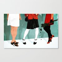 Three Marlenas Canvas Print