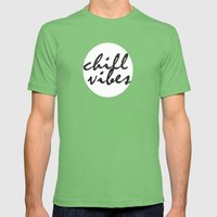 Chill Vibes Mens Fitted Tee Grass SMALL