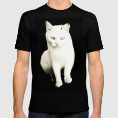 White Cat Mens Fitted Tee Black SMALL