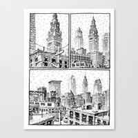 Snowy Cleveland Canvas Print