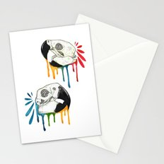 Skull Candy Macaws Stationery Cards