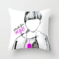 MADE FOR NYC Throw Pillow