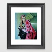 THE JPG GIRL Framed Art Print