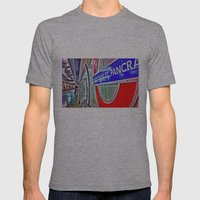 Tube signs-Kings Cross Mens Fitted Tee Athletic Grey SMALL