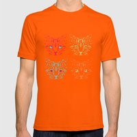 CAT FANTASY Mens Fitted Tee Orange SMALL