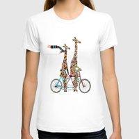 giraffe T-shirts featuring giraffe days lets tandem by bri.buckley