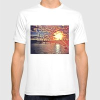 Sunset Over London Mens Fitted Tee White SMALL