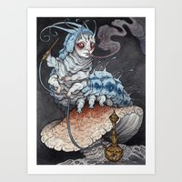 Absolem The Blue Caterpi… Art Print