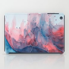 Watercolor shadow red & blue, abstract texture iPad Case