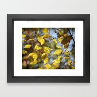 Dreaming Of Yellow Leave… Framed Art Print