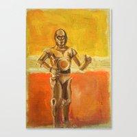 C3PO and Rothko Canvas Print