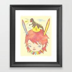 CROWN NEST - GOZILLA KING 고질라킹 Framed Art Print