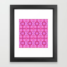 Pink Flowers Girly Pattern Framed Art Print