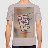 Hello Art Mens Fitted Tee Cinder SMALL