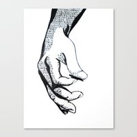 Lyrics Canvas Print