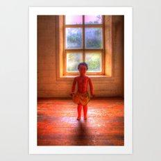 Doll Window Art Print