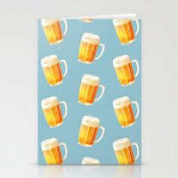 Ice Cold Beer Pattern Stationery Cards