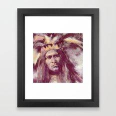 American Indian Portrait Framed Art Print